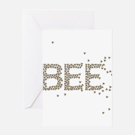 BEES (Made of bees) Greeting Card