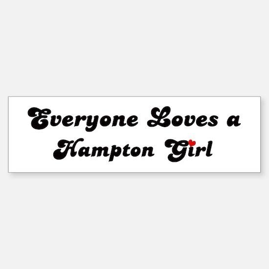 Loves Hampton Girl Bumper Bumper Bumper Sticker