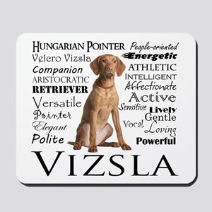 Vizsla Traits Mousepad