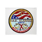 USS ALABAMA Throw Blanket