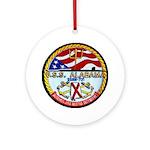 USS ALABAMA Ornament (Round)
