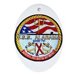 USS ALABAMA Ornament (Oval)