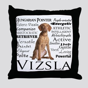Vizsla Traits Throw Pillow