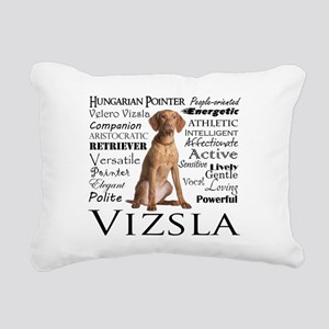 Vizsla Traits Rectangular Canvas Pillow