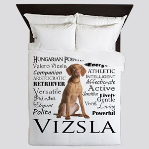 Vizsla Traits Queen Duvet