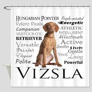 Vizsla Traits Shower Curtain