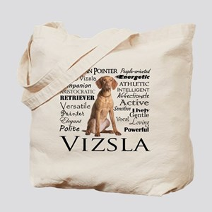 Vizsla Traits Tote Bag