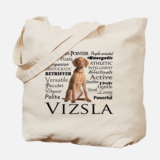 Vizsla Traits Tote Bag