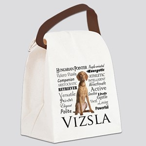 Vizsla Traits Canvas Lunch Bag