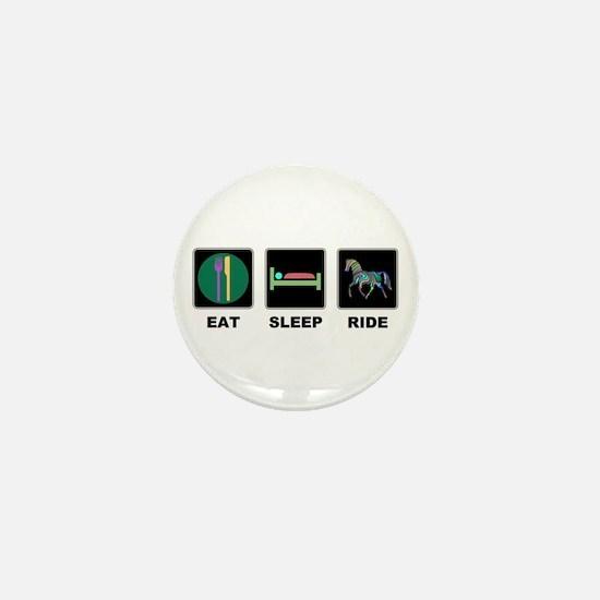 Eat Sleep Ride Horse Mini Button