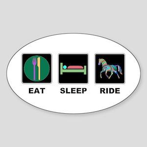Eat Sleep Ride Horse Sticker (Oval)