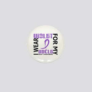 I Wear Violet 46 Hodgkin's Lymphoma Mini Button