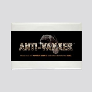 Anti-Vaxxer™ Rattlesnake Rectangle Magnet