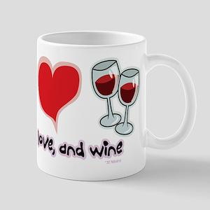 Peace, Love, and Wine Mug