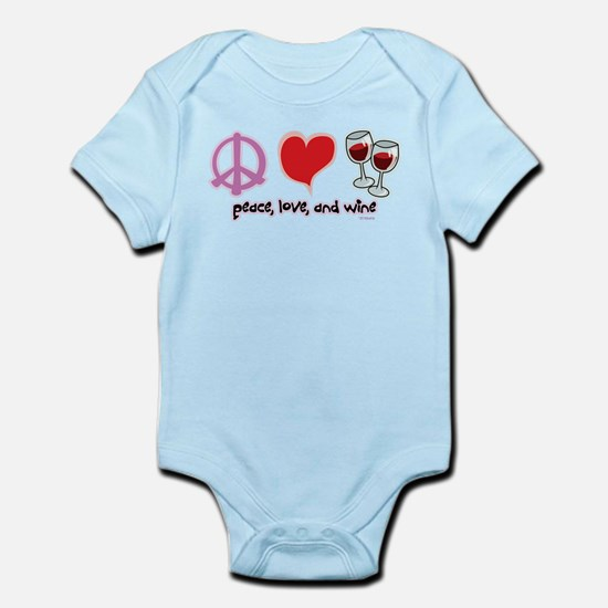 Peace, Love, and Wine Infant Bodysuit