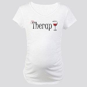 My (Wine) Therapy Maternity T-Shirt