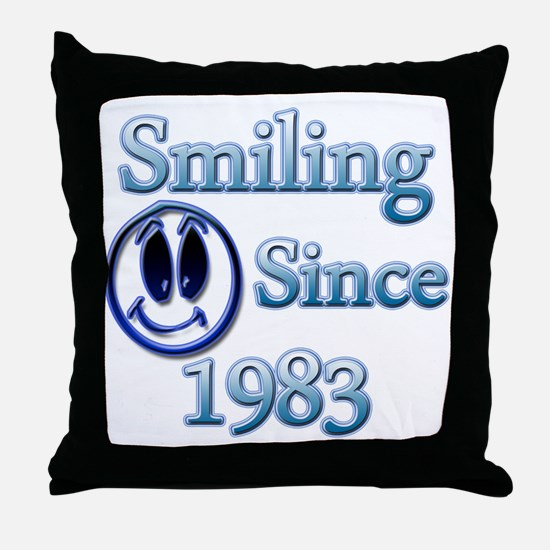 Funny Smiling face Throw Pillow