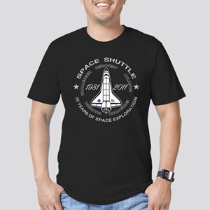 Space Shuttle_30 Years Men's Fitted T-Shirt (dark)