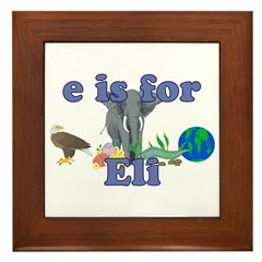 E is for Eli Framed Tile