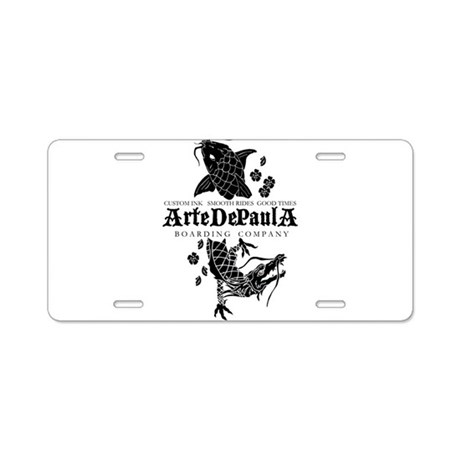 Artedepaula Boarding Co. Logo Aluminum License Pla
