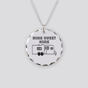 Home Sweet Home Travel Trailer Necklace Circle Cha