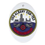 USS ALBANY Ornament (Oval)