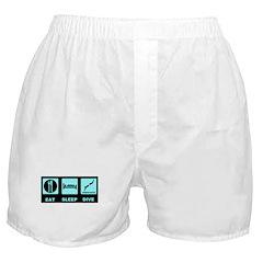Eat sleep dive Boxer Shorts