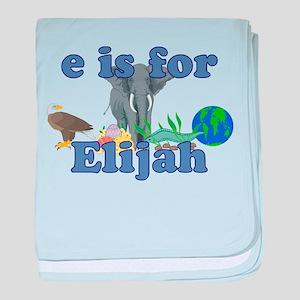 E is for Elijah baby blanket