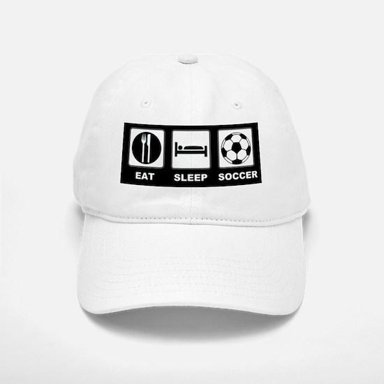 Eat Sleep Soccer Baseball Baseball Cap