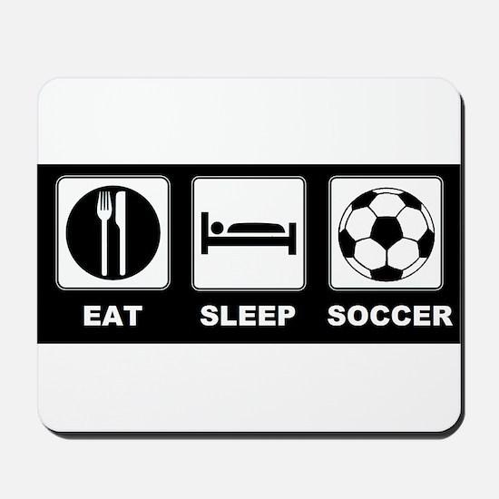 Eat Sleep Soccer Mousepad