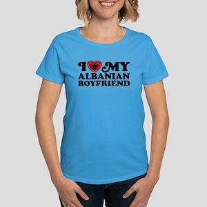 I Love My Albanian Boyfriend Women's Dark T-Shirt