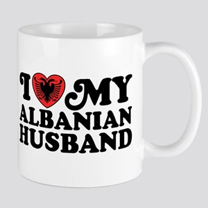 I Love My Albanian Husband Mug