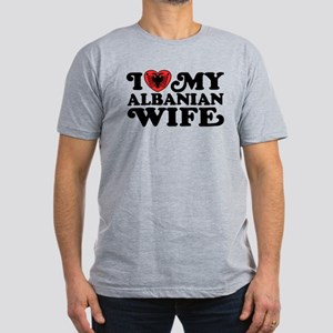 I Love My Albanian Wife Men's Fitted T-Shirt (dark