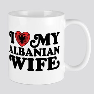 I Love My Albanian Wife Mug