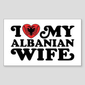 I Love My Albanian Wife Sticker (Rectangle)