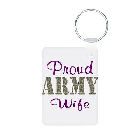Army Purple Home/Office Aluminum Photo Keychain