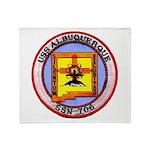 USS ALBUQUERQUE Throw Blanket