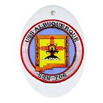 USS ALBUQUERQUE Ornament (Oval)