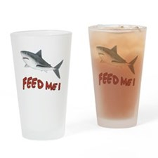Shark - Feed Me Drinking Glass