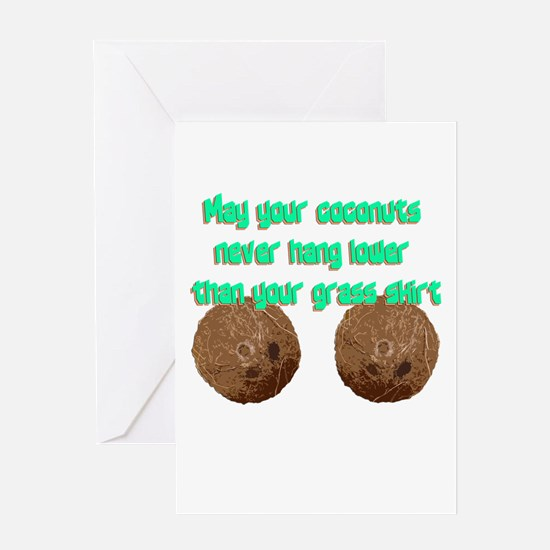 Coconuts Greeting Cards