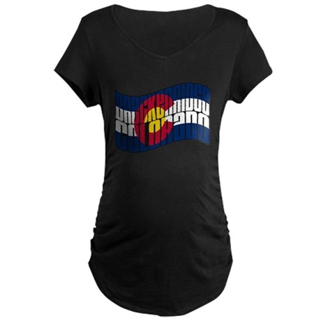 Breckenridge Colorado Flag Maternity Dark T-Shirt