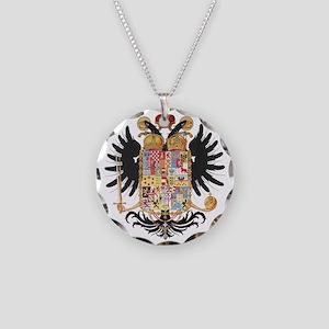 German Coat of Arms Vintage 1765 Necklace Circle C