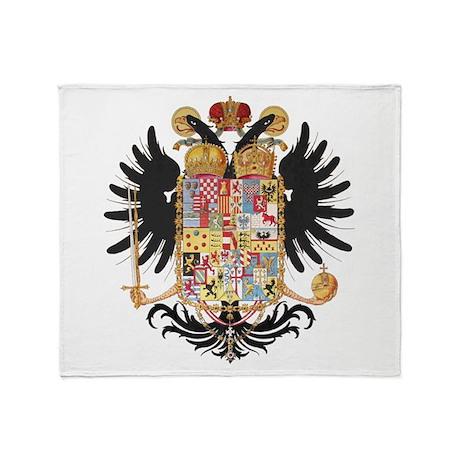 German Coat of Arms Vintage 1765 Throw Blanket