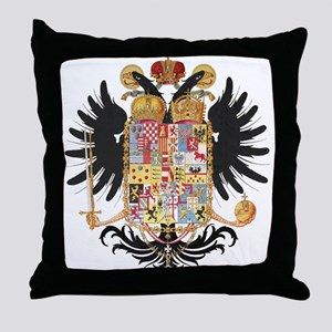 German Coat of Arms Vintage 1765 Throw Pillow