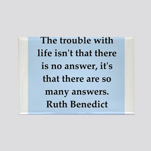 Ruth Benedict quotes Rectangle Magnet