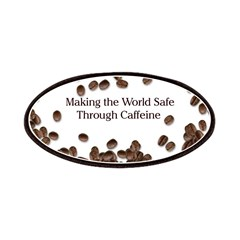 Caffeine Making the world saf Patches