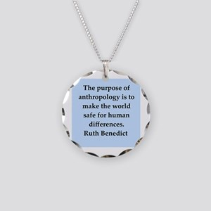 Ruth Benedict quotes Necklace Circle Charm