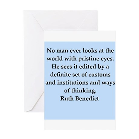 Ruth Benedict quotes Greeting Card