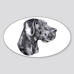 Great Dane HS Blue UC Sticker (Oval)