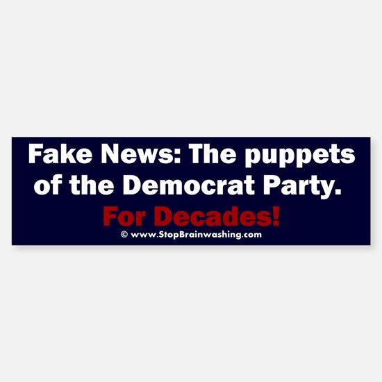 Democrat Puppets (bumper) Bumper Bumper Bumper Sticker